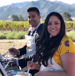 Art Spot on Wheels: Painting in the Vineyard
